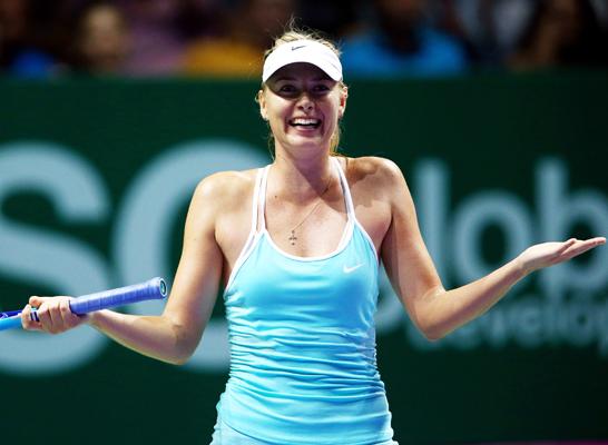 シャラポア WTA最終戦2勝目